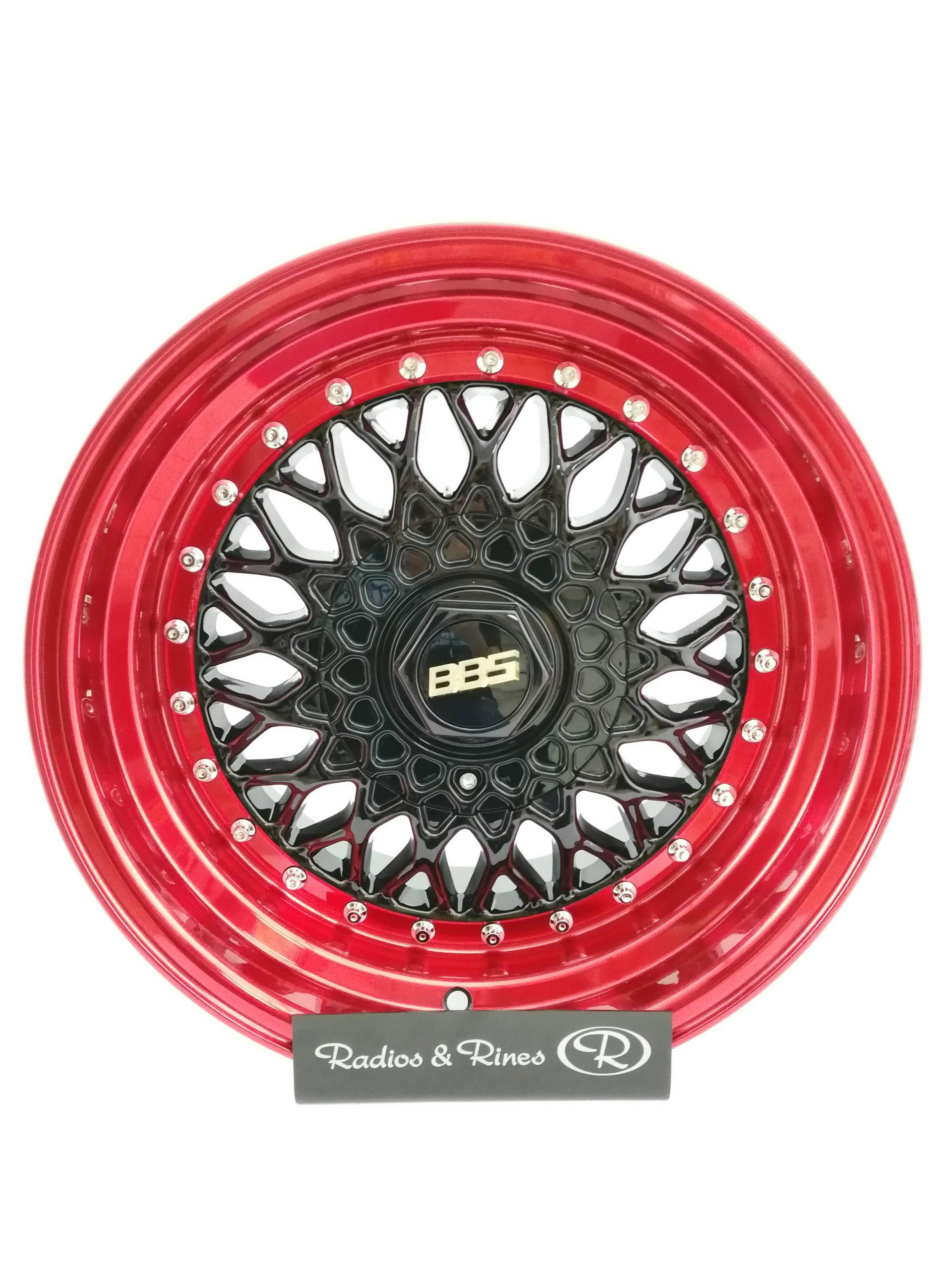RIN RACER 135 R16X9 4H 100/114.3 BLACK POLISH LIP RED CLEAR